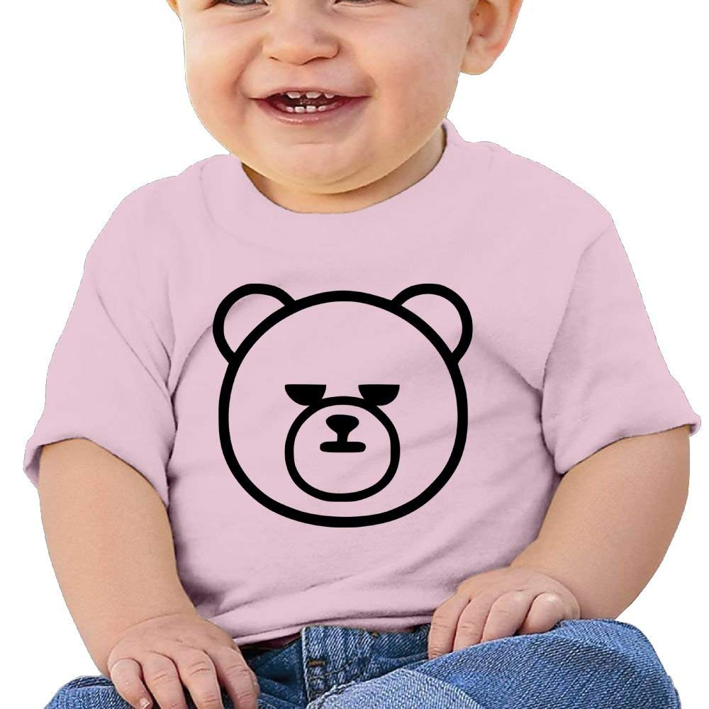 Cute Short-Sleeves Tshirts Serious Bear Head Birthday Day Baby Boy Toddler