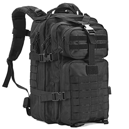 9b22c8717e REEBOW GEAR Military Tactical Backpack Army Molle Assault Pack Bug Out Bag  Backpacks 34L Daypack Black