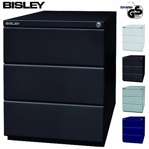 Rollcontainer metall schwarz  BISLEY OBA Rollcontainer Schwarz mit 3 Schüben | Bürocontainer aus ...
