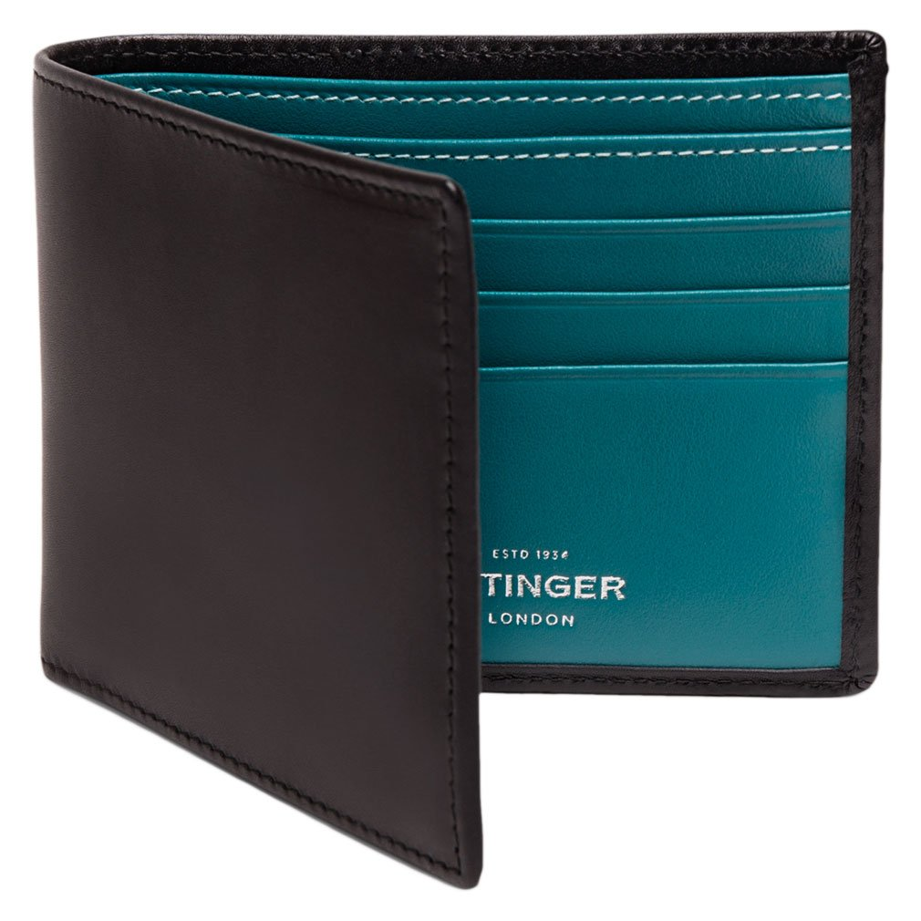 Ettinger Men's Sterling Billfold Wallet with 6 Credit Card Slips - Turquoise
