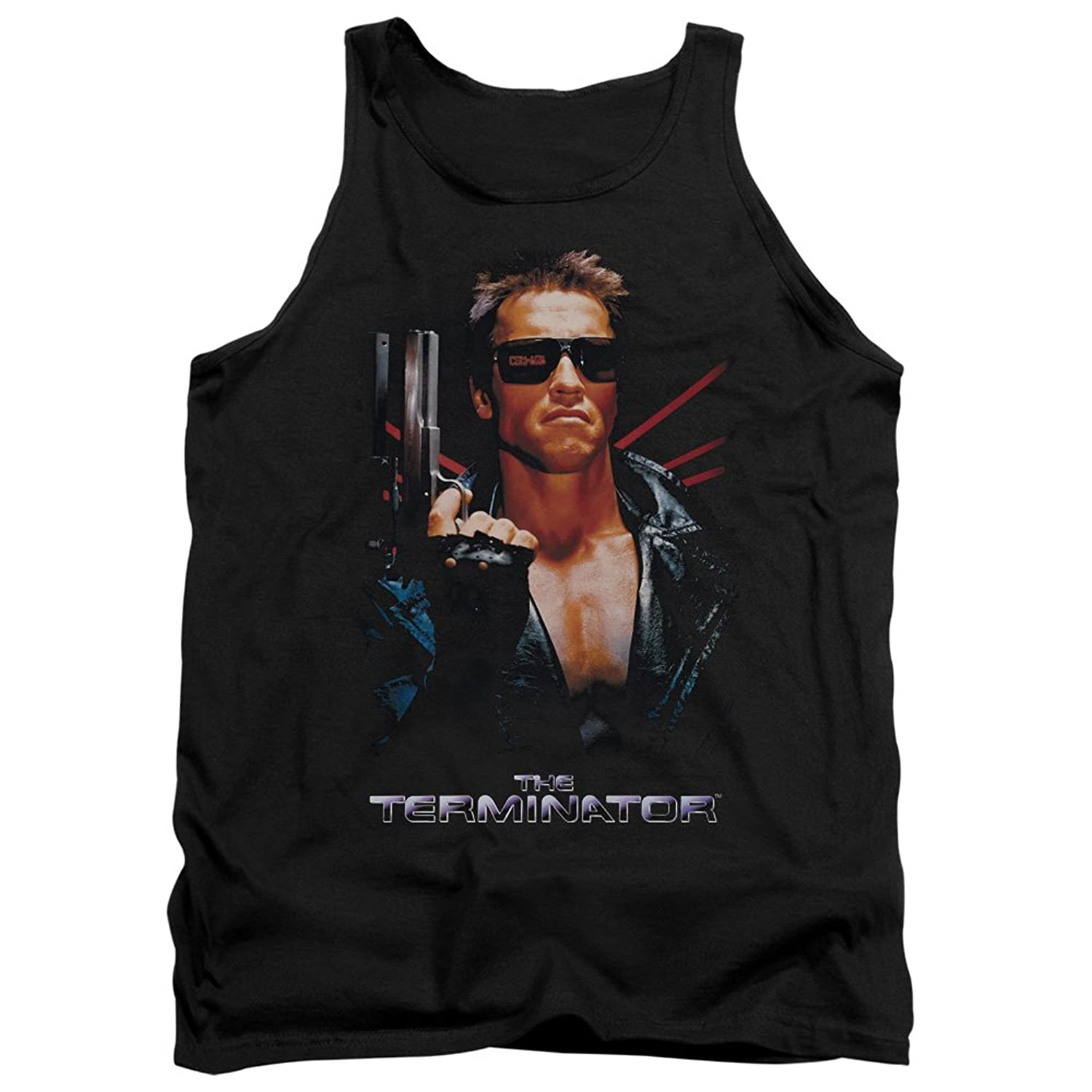 The Terminator 80s Sci-Fi Action Film Arnold Poster Adult Tank Top Shirt
