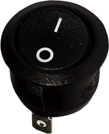 ON AERZETIX Interrupteur commutateur contacteur bouton /à bascule SPST OFF- 6A//250V 20A//12V 1 position