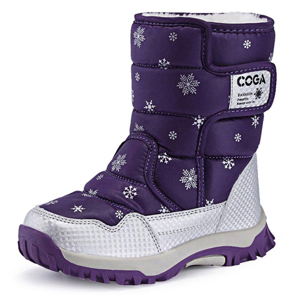 Putu スノーブーツ キッズ ジュニア ブーツ 女の子 男の子 防水 保暖 冬用ブーツ 雪遊び スキー 雪用ブーツ 子供靴 靴 シューズ