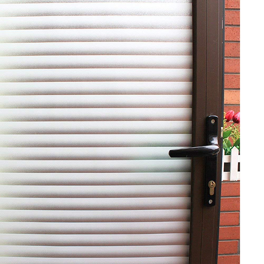 Mikomer Blinds Privacy Window Film,Stained Glass Door Film,Static Cling Window Tint,Removal Window Decal/Reusable/Heat Control/Anti UV for Office and Home,35In. by 78.7In.