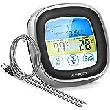 HOSPORT Termometro da Cucina Digitale Termometri da Carne Professionale Termometro con Display LCD e Timer per Forno/BBQ/ Grill