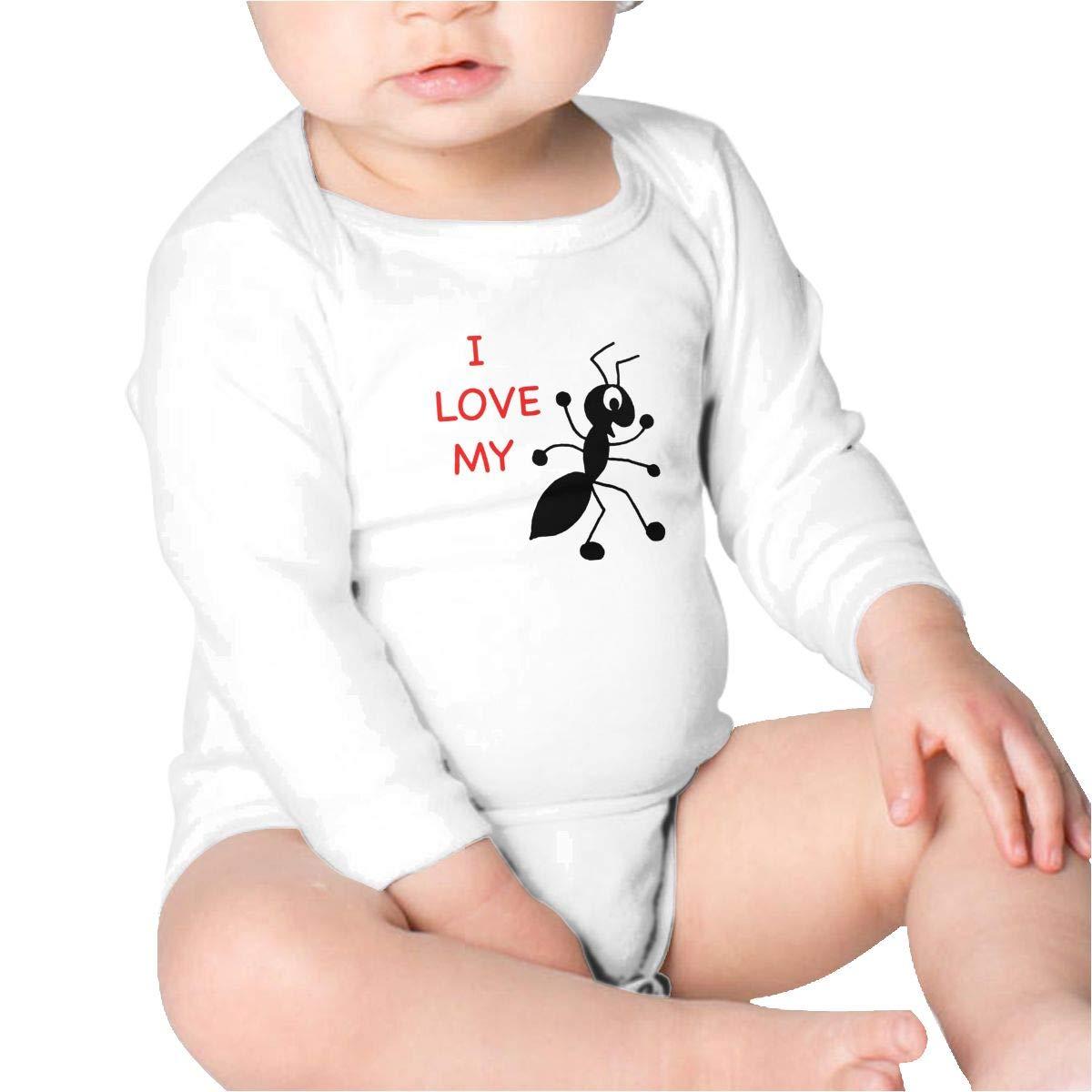 I Love My Aunt Boys Cotton,Long Sleeve Infantile Suit