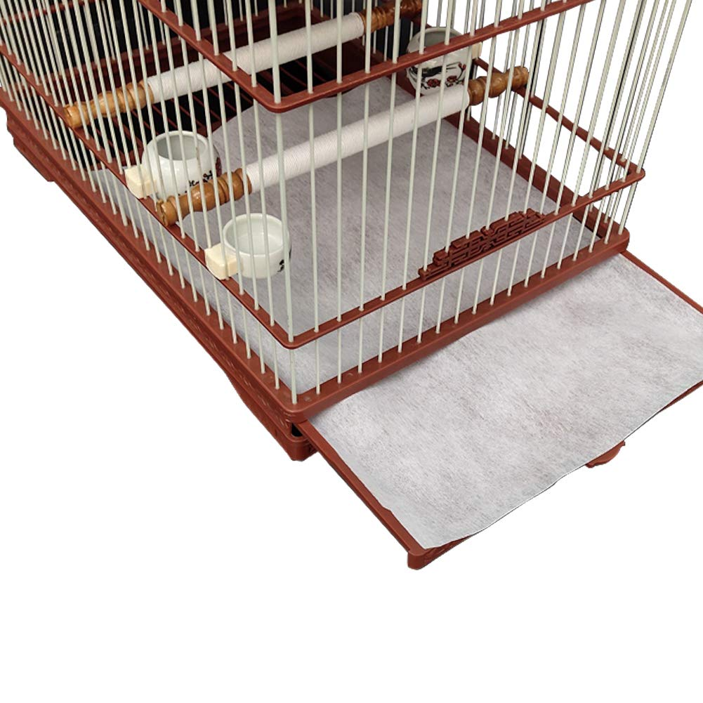 QBLEEV Bird Parrot Cage Liners Paper, Absorbent & Disposable Pet Animal Cages Cushion,11''x18.8'' by QBLEEV