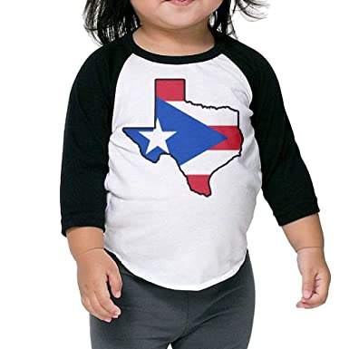 Boys Girls Kids /& Toddler Puerto Rico Flag Long Sleeve Tees 100/% Cotton