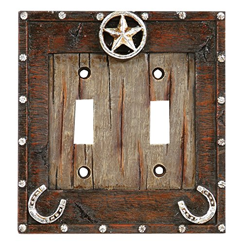 (Rainbow Trading RA 8827 Western Star and Horseshoe Decorative Double Switch Plate Cover)