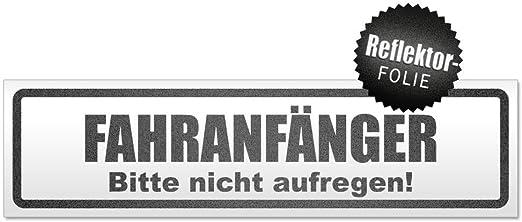 Kiwistar Fahranfänger Bitte Nicht Aufregen Magnetschild Schild Magnetisch Auto