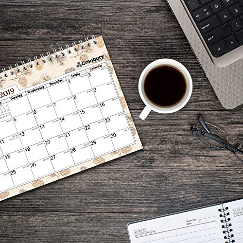 buy monthly desk calendar 2019 small  desktop top stand