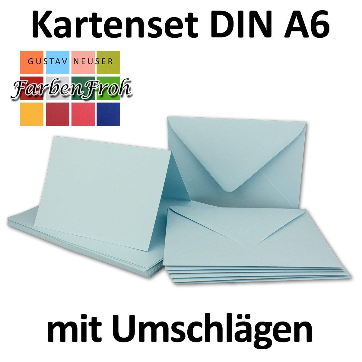 Faltkarten Set mit Brief-Umschlägen DIN A6   C6 in in in Rosanrot   100 Sets   14,8 x 10,5 cm   Premium Qualität   Serie FarbenFroh® B076T5PMLX | Am wirtschaftlichsten  df76e8