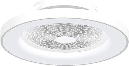 Ventilador de techo Tibet LED Mantra Blanco con Mando: Amazon.es: Iluminación
