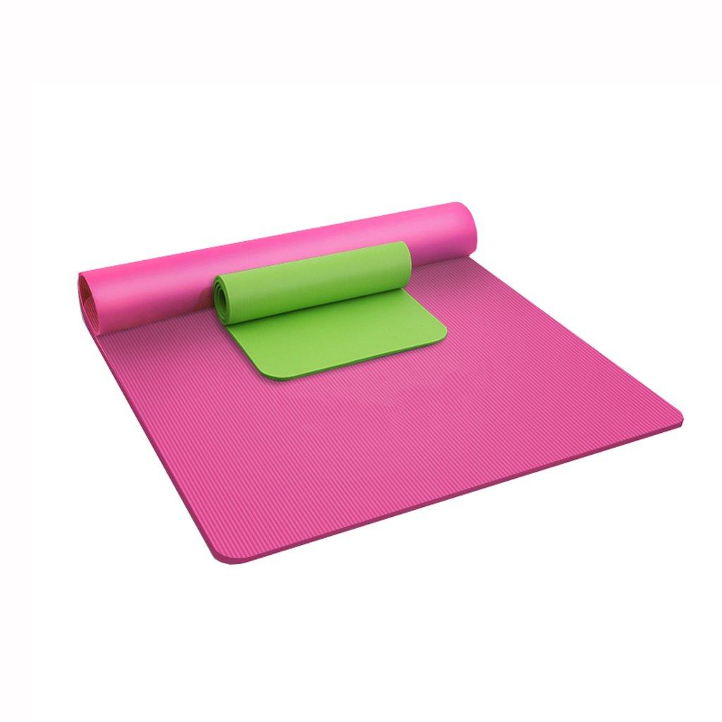 Rose JXJJD Tapis de Yoga Double Tapis de Yoga de Fitness en Trois pièces, épaississement antidérapant A