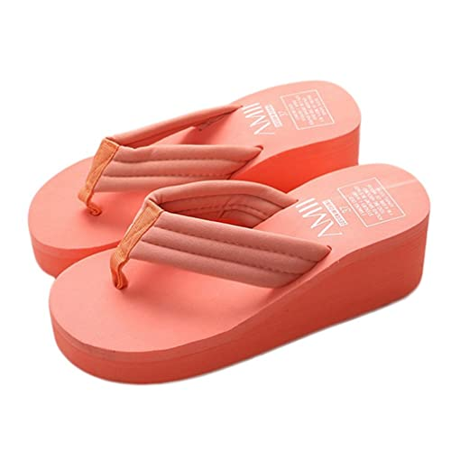 3e4e8e361 Image Unavailable. Image not available for. Color  CYBLING Womens Platform  Thong Sandals Fashion Comfortable Thick Bottom Beach Flip Flops Summer  Slipper