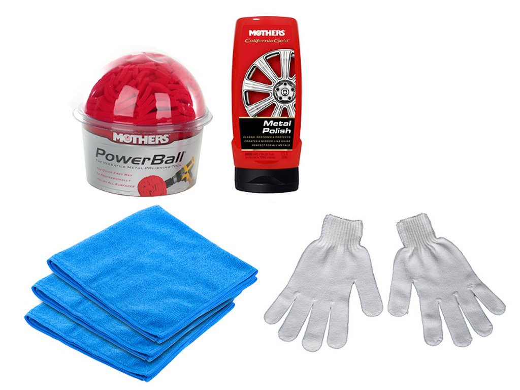 Mothers Powerball Plus Power Polish And Microfiber Deluxe Kit