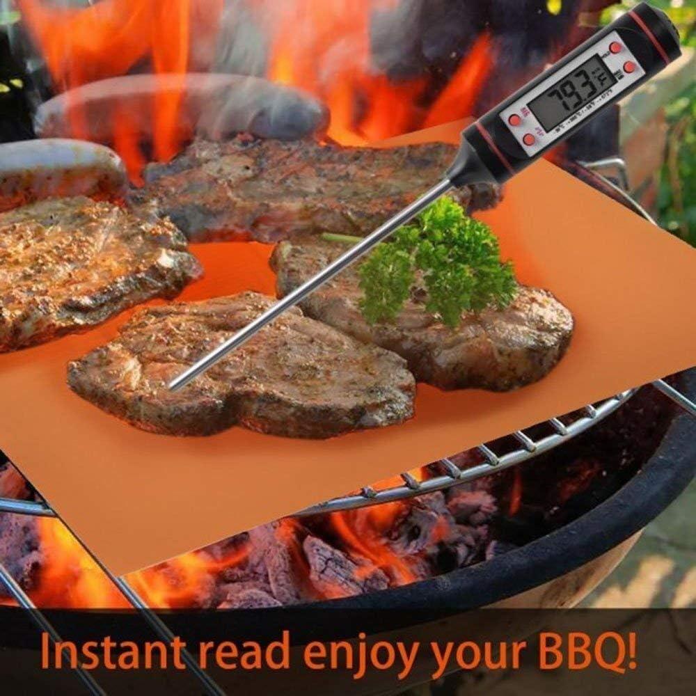 Griglia for barbecue in rame e tappetino for cuocere Lamiera Tappetini for barbecue antiaderenti Tappetini di cottura riutilizzabili Teglia Tappetino for griglia Tappetino for barbecue resistente