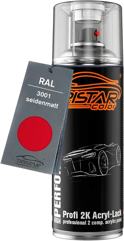 Ral 3001 Signalrot Seidenmatt 2k Acryl Sprühdose Spraydose Sprühlack Spritzlack 400 Ml Schnelltrocknend Baumarkt