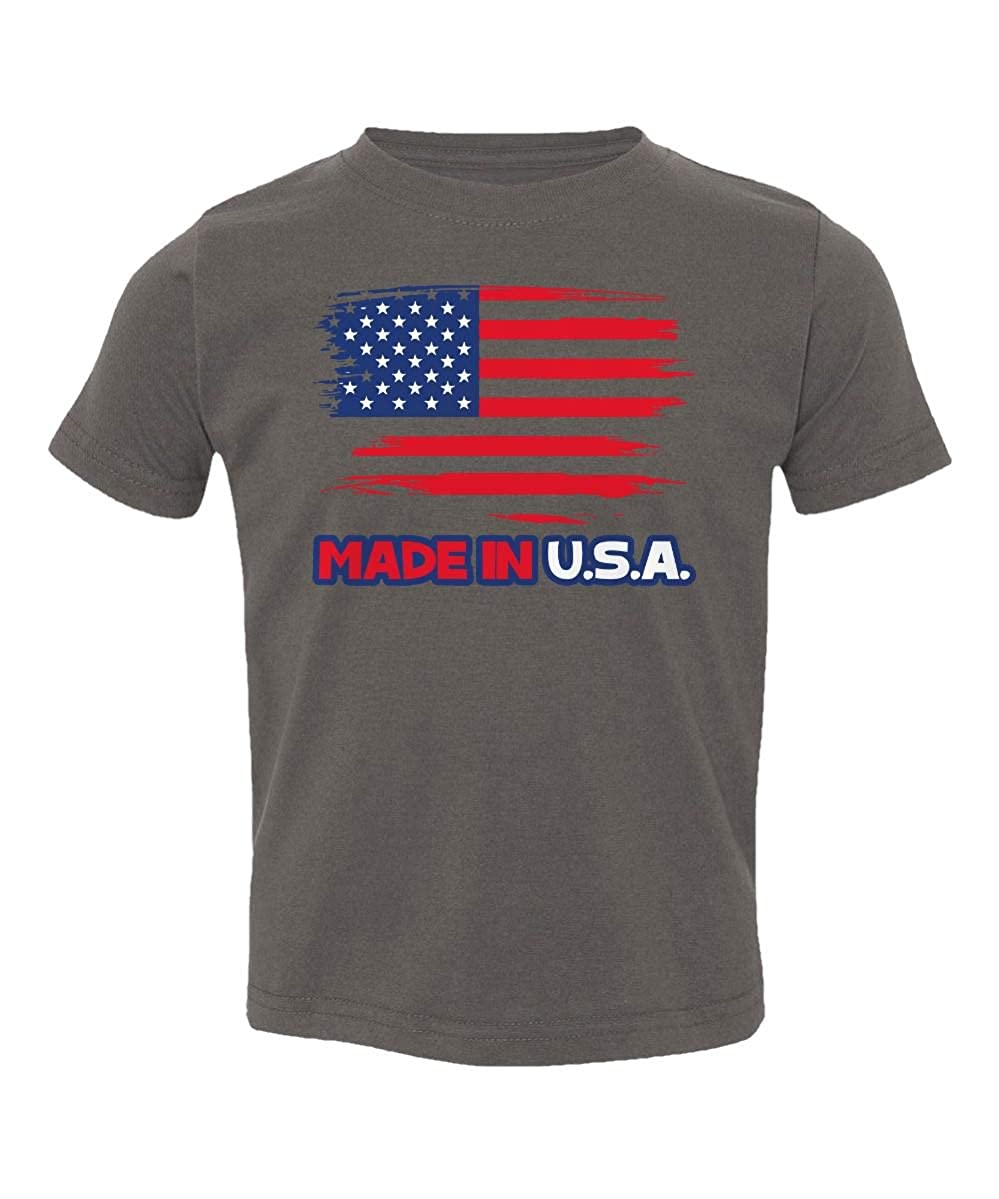 Made USA American Flag United States Gym Youth /& Toddler Tee Shirt