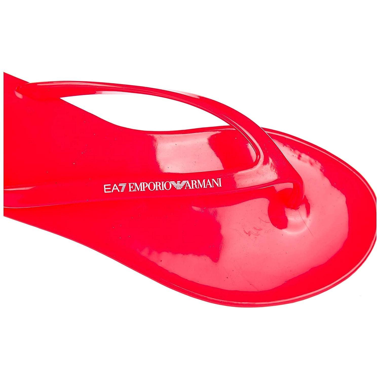 Emporio Armani Damen EA7 Damen Armani Gummi Flip Flops Zehentrenner Sandalen Jelly Rosa d92c3a