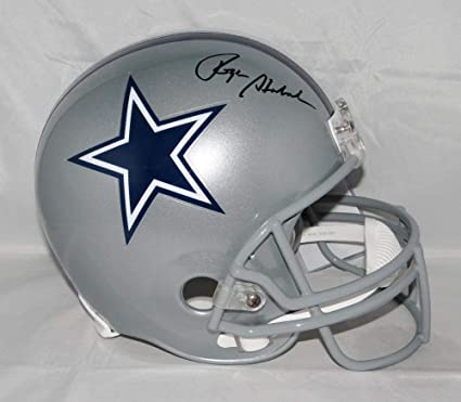 bc2f0fe860d Image Unavailable. Image not available for. Color  Roger Staubach  Autographed Full Size Dallas Cowboys Helmet- JSA ...