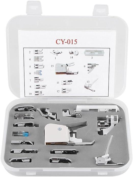 Máquina de coser prensatelas, Kit de 15 pcs multifuncional ...