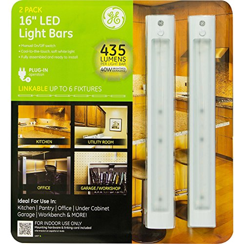 Ge 16 Quot Led Linkable Light Bars 2 Pack Easy Plug In