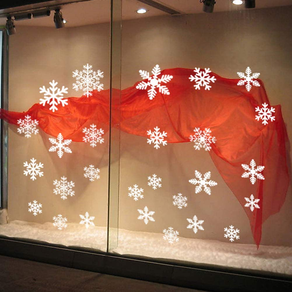 Stickers Christmas Snowflake Window Stickers Kids Room Wall Decal Home Party Decorations khkadiwb Merry Christmas White