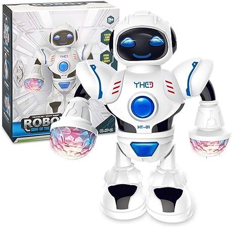 Besteffie Robot Jouet Avec Led Coloree Jouet Electronique Marche