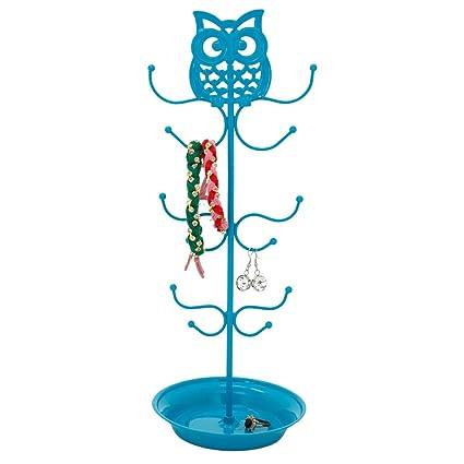 Amazoncom Cute Jewelry Stand Holder Owl Blue Bracelet Necklace