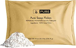Soap Granule Flakes (8 oz.) by Pure Organic Ingredients, Eco-Friendly Packaging, Ingredient to Make Liquid or Powdered Homemade Laundry Detergent