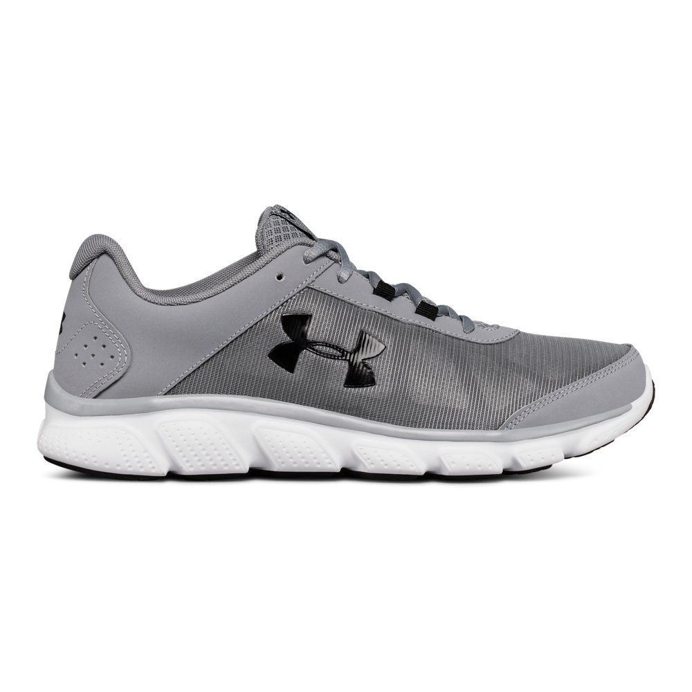 Under Armour Men's Micro G Assert 7 Running Shoe, Steel (100)/White, 7.5 M