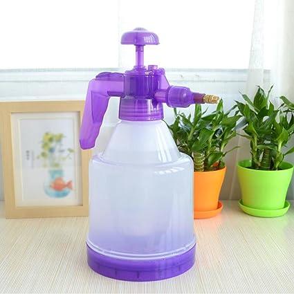 Wddwarmhome regadera púrpura 1.2L cobre aspersor transparente botella plástico neumático riego pot botella de spray