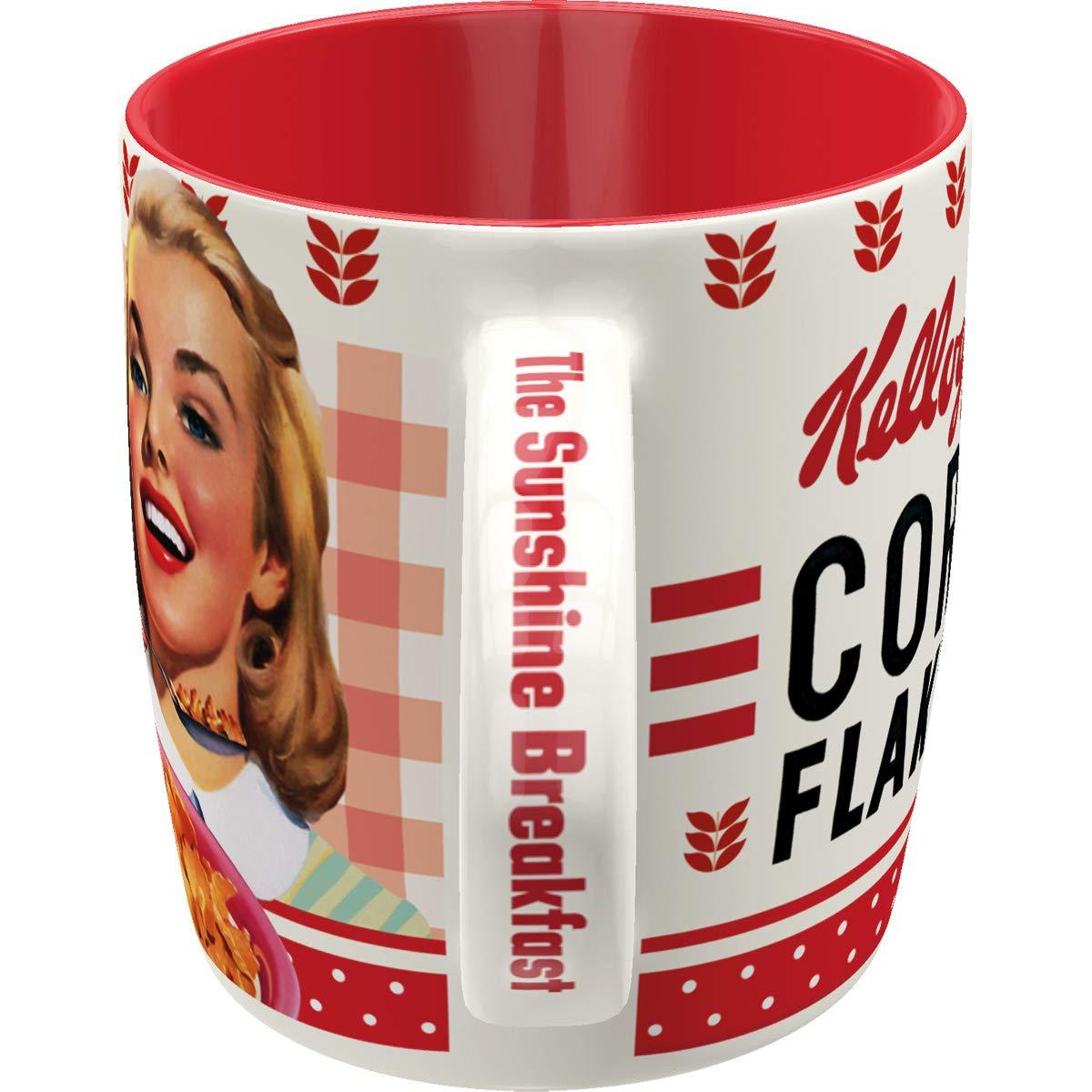 Geschenk-Idee f/ür Vintage-Liebhaber Girl Collage 330 ml Nostalgic-Art 43037 Retro Kaffee-Becher Kelloggs Gro/ße Lizenz-Tasse mit Fr/ühst/ücksmotiv