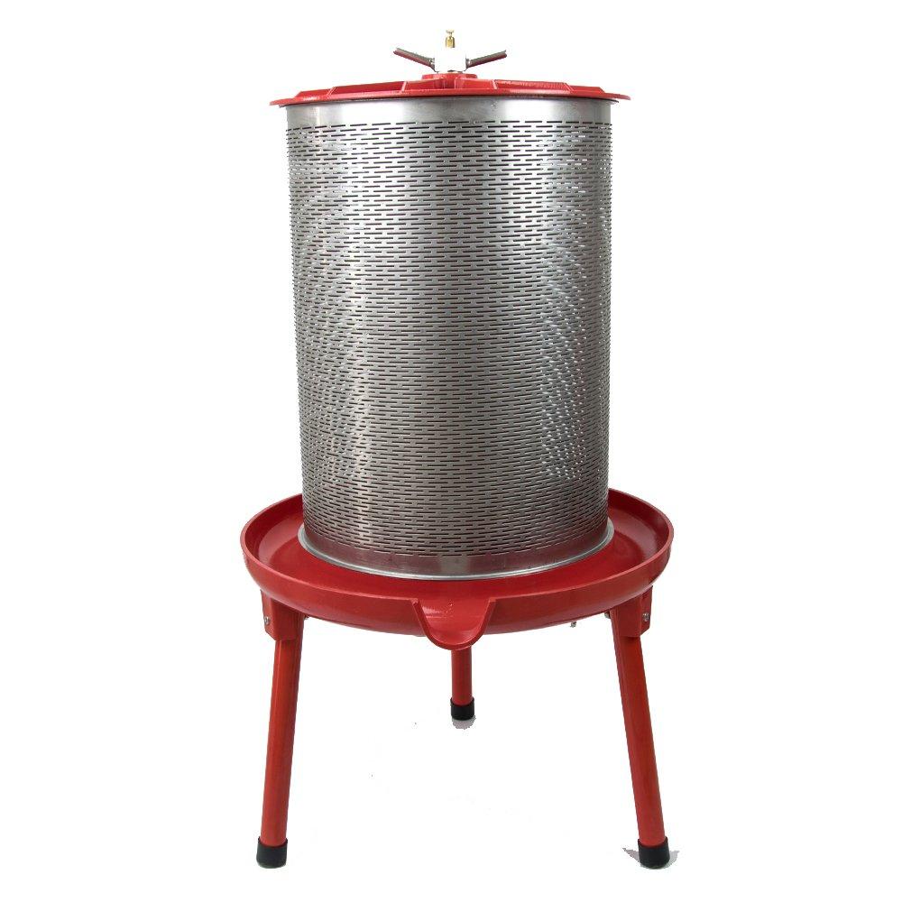 EJWOX 5.3 Gallon Hydropress Fruit and Wine Press Wine Making Cider Press Apple Press Pear Press Honeycomb Press