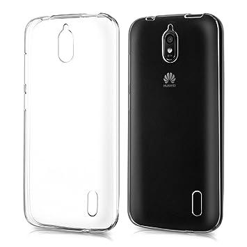 kwmobile Funda para Huawei Y625 - Carcasa Protectora de TPU para móvil - Cover Trasero en Transparente