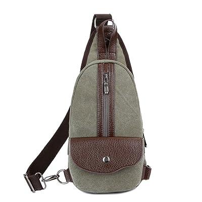 Wewod Fashion Leisure Mens Bags Sling Bag Backpack Mini Crossbody Bag for iPad