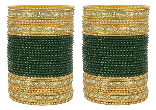 MUCHMORE Fabulous Traditional Fashion Green Bangle Indian Party - Indian Traditional Wear