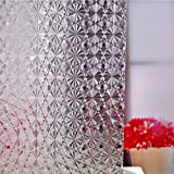 Wimaha Standard Diamond 3D Design Shower Curtain Mildew Resistant Waterproof Shower Curtain with Shower Curtain Hooks and Metal Grommets