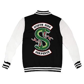 KiarenzaFD - Chaqueta de Cuello Redondo para Universidad Riverdale Serpents Southside Jughead Jones