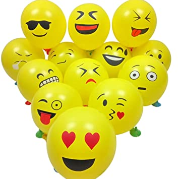 Party Globos De Latex Ularma 10 Pcs Smiley Emoji Balloon Perfect