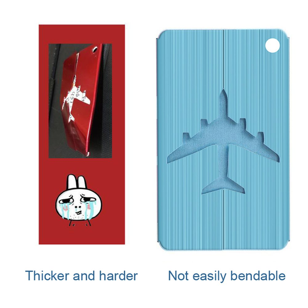 Aluminum Luggage & Suitcase Tags Travel ID Identification Labels Set For Bags -5 pack