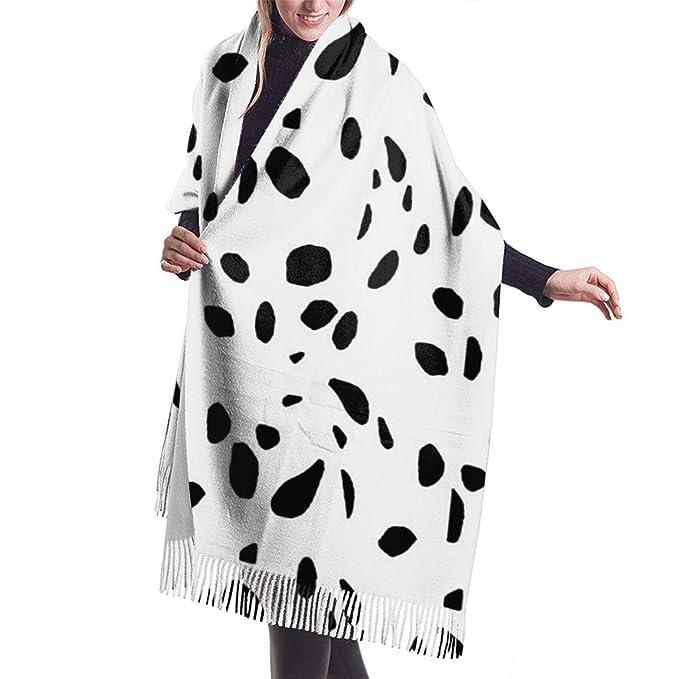 Amazon.com: Bufanda de cachemira con estampado de dálmata ...