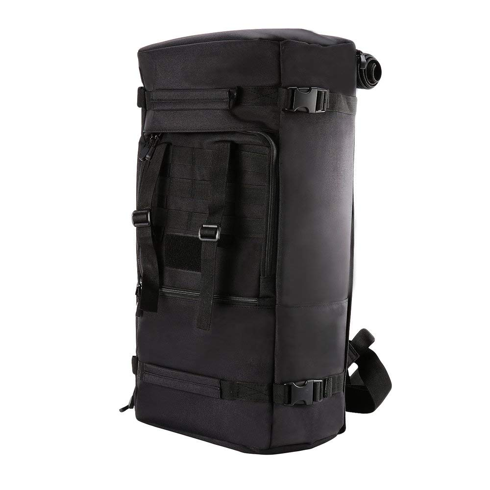BFHCVDF 60L Large Capacity Outdoor Sports Backpack Multifunctional Tactical Bag Black