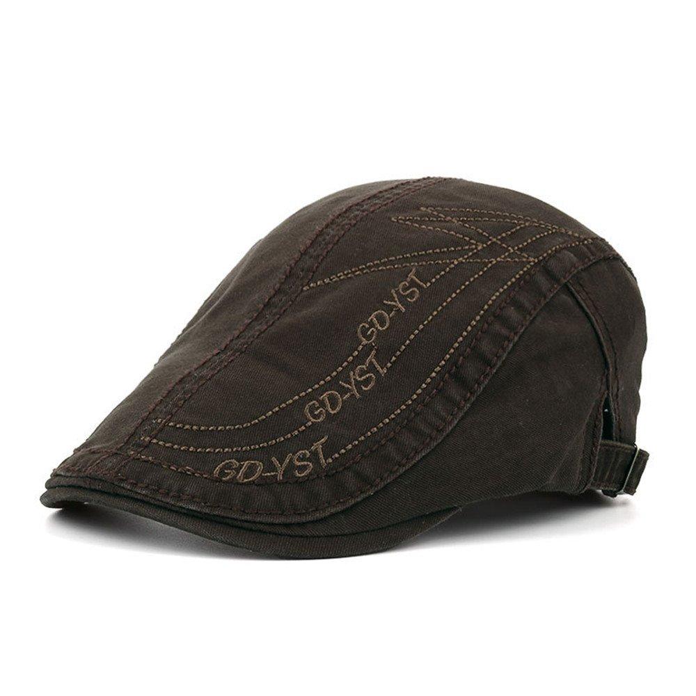 doublebulls hats Flat Cap Men Boys Classic Retro Cotton Outdoor Summer Sun Hat Beret Hats DH1249A
