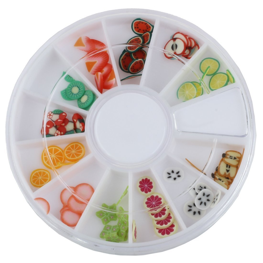 SODIAL(R) 144 pcs 3D FIMO Slice Fresh Fruit Face Nail Art Decoration 003911
