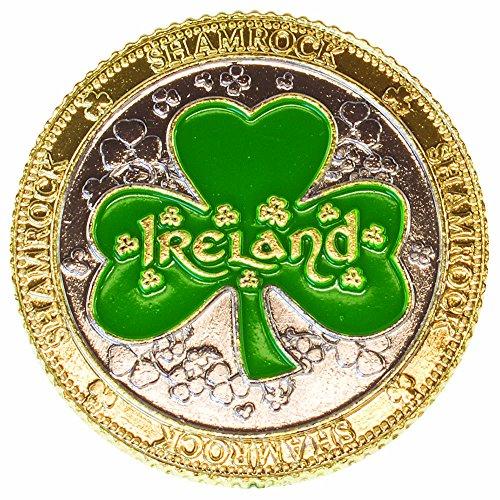 Green Shamrock Irish Novelty Decorative Coin