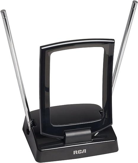 RCA ant310z interior amplificada FM y antena de TV en color negro