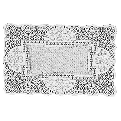 Heritage Lace Canterbury Classic 14-Inch by 19-Inch Placemat, White, Set of 2 - Table textile Medium-gauge lace Made in USA - placemats, kitchen-dining-room-table-linens, kitchen-dining-room - 61J7k06cp L. SS400  -