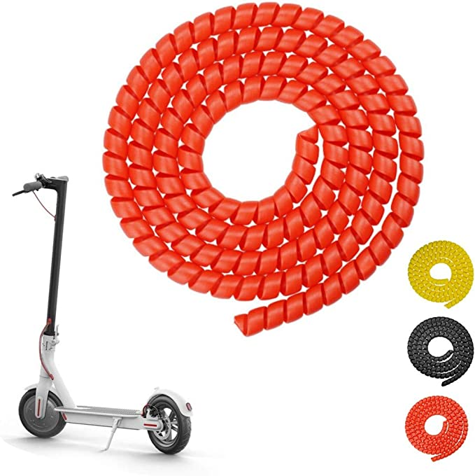 Yungeln Scooter Cable Protector Spiral Cable Tube 1 M Silicone Cable Protector Compatible With Xiaomi 1s M365 Pro Ninebot Scooter Red Sport Freizeit